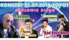 Królowie Disco: Savage, Zenon Martyniuk, Francesco Napoli i Bad Boys Blue